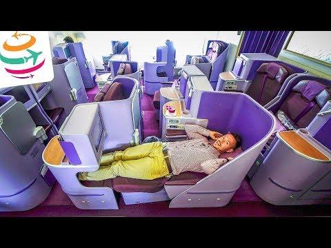 THAI Airways Business Class (Royal Silk) Boeing 777-300ER | GlobalTraveler.TV
