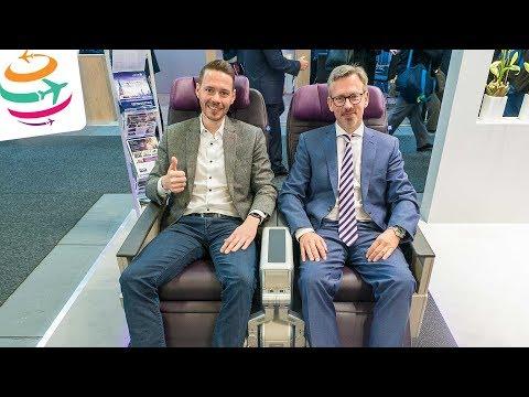 Die neue United Airlines Premium Plus Klasse (ITB Interview) | GlobalTraveler.TV