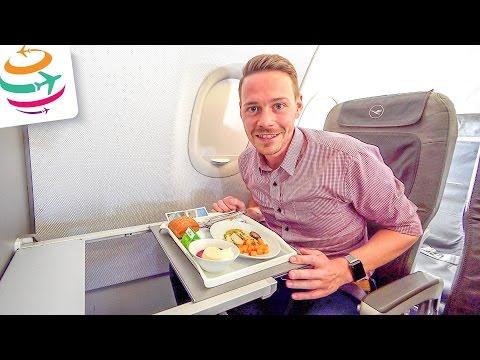 Lufthansa Business Class A319 HAJ-MUC | GlobalTraveler.TV