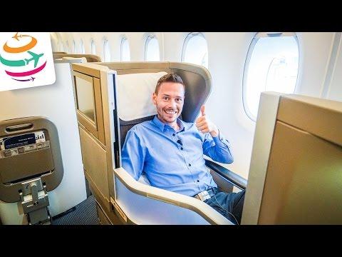 British Airways Business Class (ENG) Club World A380 LHR-HKG | GlobalTraveler.TV