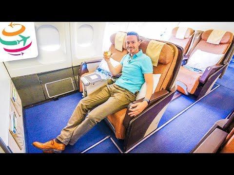 Philippine Airlines Business Class A340-300 | GlobalTraveler.TV