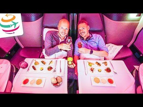 Qatar fliegt uns in der Qsuite nach Doha zur IATA Conference | GlobalTraveler.TV