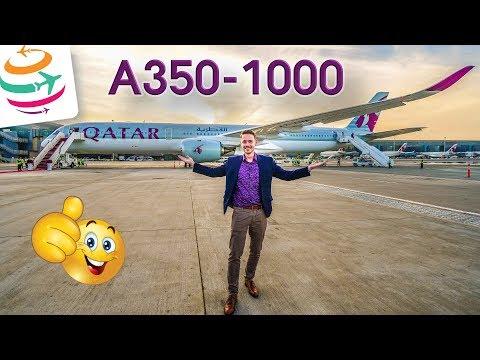 Erstflug A350-1000 Qatar Airways mit der Qsuite | GlobalTraveler.TV