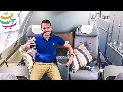 Lufthansa Business Class 747-8 Upperdeck | GlobalTraveler.TV
