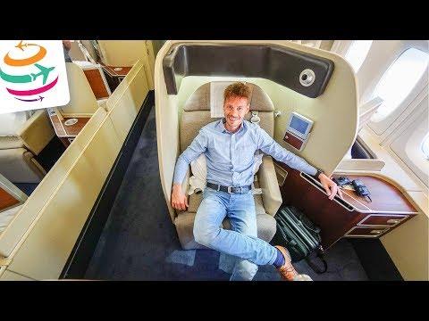 HAMMER! Die Qantas First Class im A380 von SYD nach Los Angeles | GlobalTraveler.TV