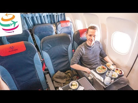Als Zubringer: Air Serbia Business Class in deren A319 | GlobalTraveler.TV