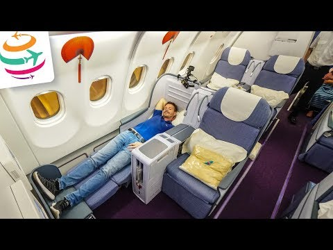 China Southern Airlines Business Class A330-200 CAN-PEK | GlobalTraveler.TV
