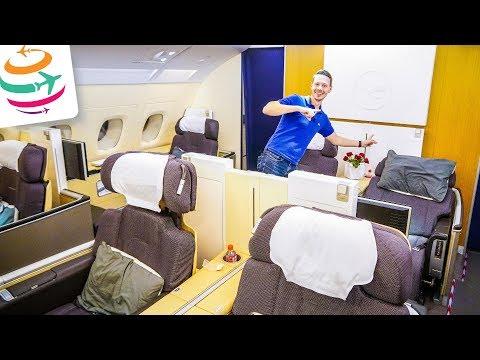 Lufthansa FIRST Class A380 nur für uns | GlobalTraveler.TV