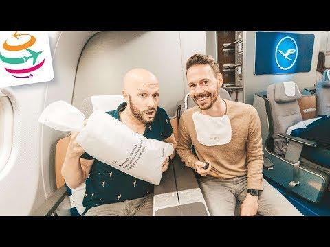 Flugzeug defekt! Umgebucht auf Lufthansa Business Class A340-600 | GlobalTraveler.TV
