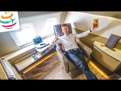 RIESIG! Die Singapore Airlines First Class Suites in der A380 SIN-HKG | GlobalTraveler.TV
