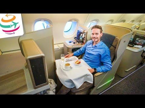 In der Asiana Business Class im A380 von Sydney nach Seoul | GlobalTraveler.TV