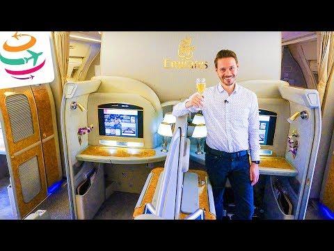 LUXUS überall!! EMIRATES First Class 777-300ER | GlobalTraveler.TV