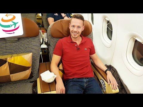 Etihad Business Class A321 (Brandneu) Flug Erfahrung Bericht Report Deutsch | GlobalTraveler.TV