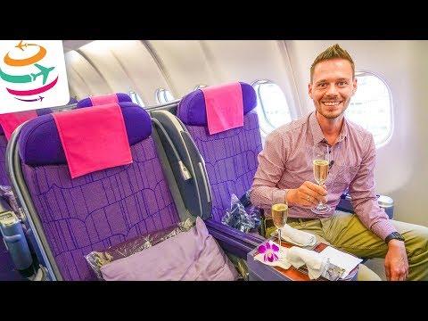 Thai Airways Business Class A330-300 | GlobalTraveler.TV