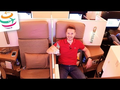 Etihad Business Class A380 (Brandnew) Flight Experience Report | GlobalTraveler.TV