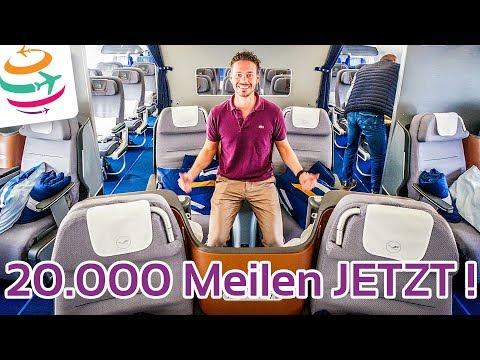 Wieder da! 20.000 Miles & More Meilen für den nächsten Prämienflug | GlobalTraveler.TV