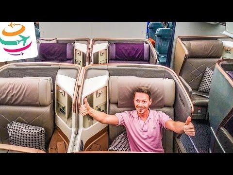 Singapore Airlines Business Class Boeing 777-300ER | GlobalTraveler.TV
