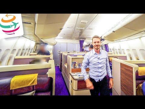 Thai Airways Royal First Class 747-400 | GlobalTraveler.TV