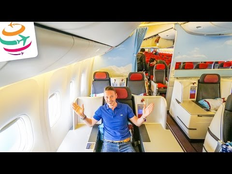 Austrian Business Class Boeing 777-200ER | GlobalTraveler.TV