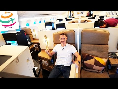 Etihad Business Class Boeing 787-9 | GlobalTraveler.TV