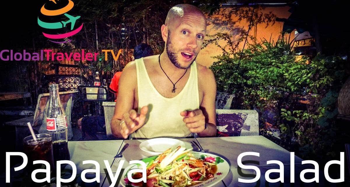 Original Papaya Salad Street Food Bangkok