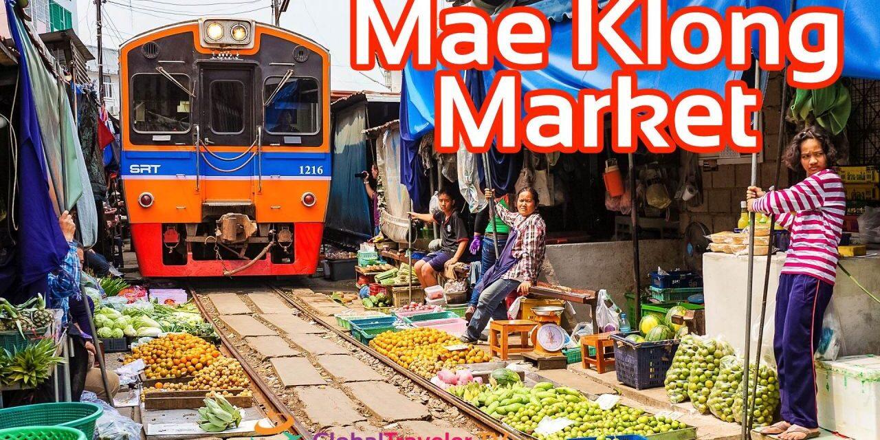 Mae Klong Zugmarkt Railway Market