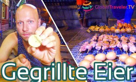 Gegrillte Eier Thailand Bangkok Street Food