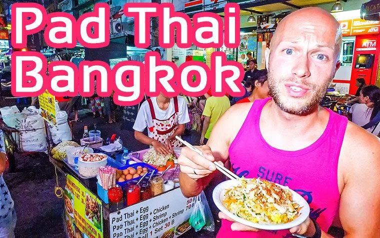 Pad Thai Khao San Road Bangkok Thailand