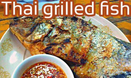 Thai grilled fish Street Food Bangkok