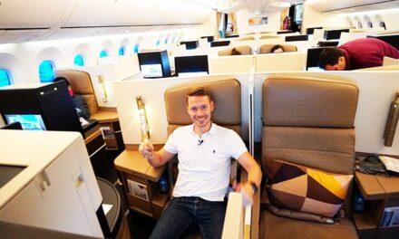 Etihad Business Class Boeing 787 AUH-JNB Review