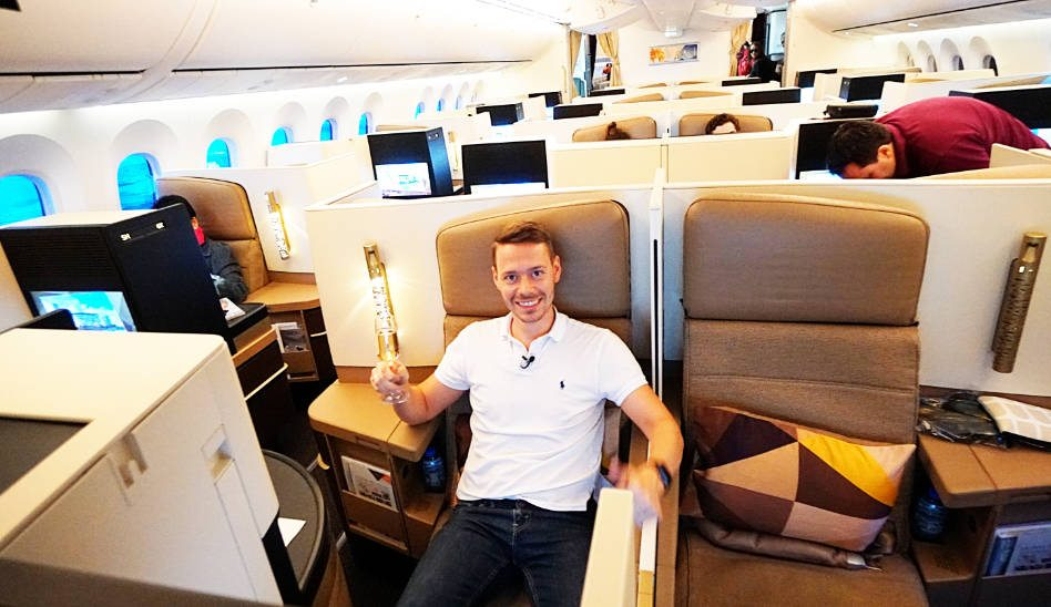 Etihad Business Class Boeing 787 AUH-JNB Review