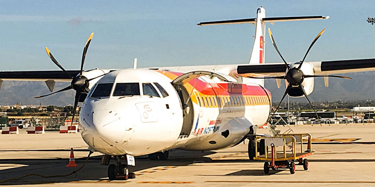 Iberia Economy Class ATR 72-600 operated by Air Nostrum