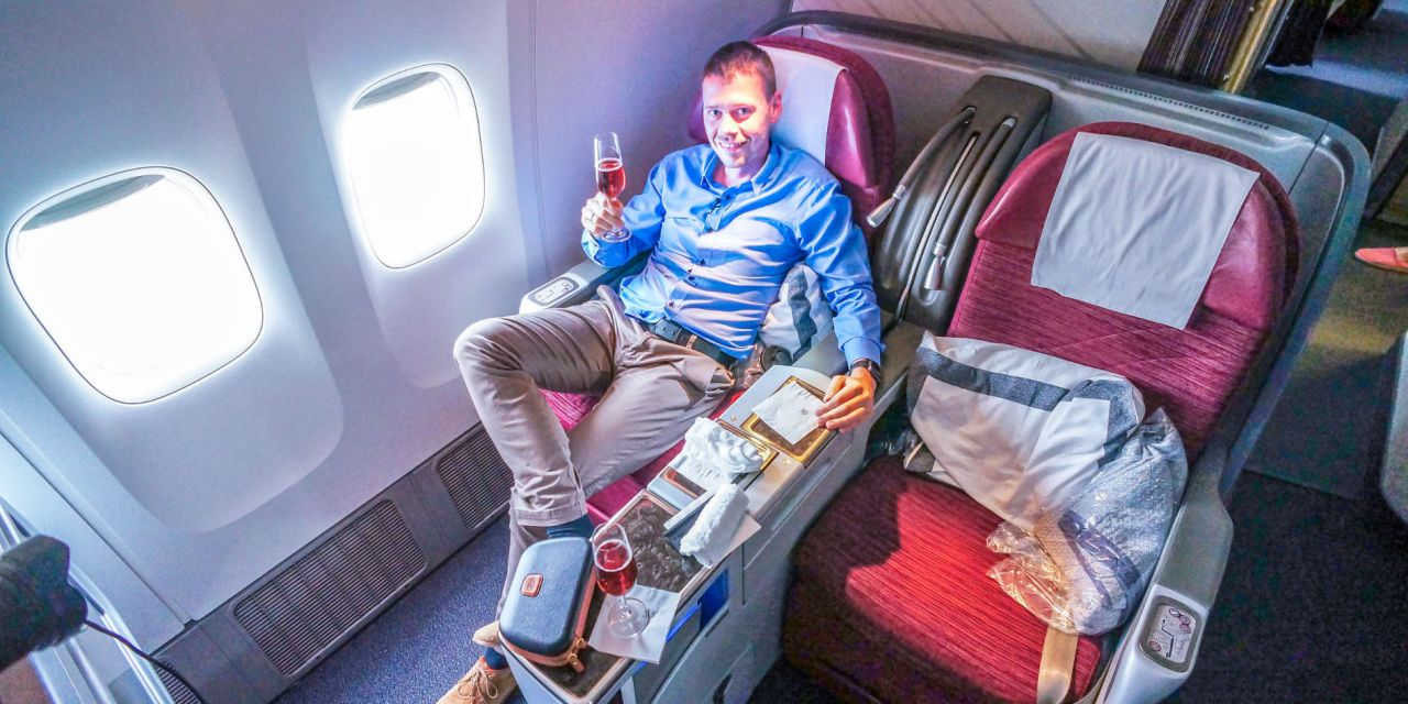 Qatar Airways Business Class 777-300ER London-Doha