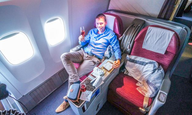 Qatar Airways Business Class 777-300ER London-Doha