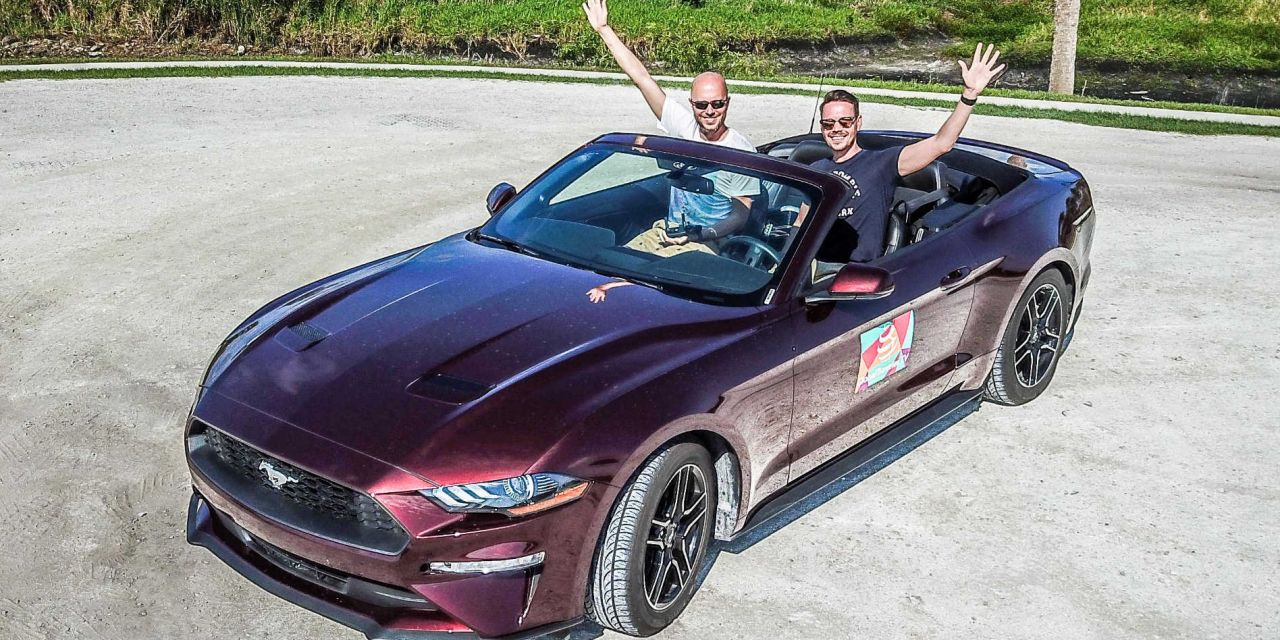 Mit Upgrade auf 300PS Mustang Cabrio starten wir in Florida