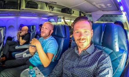 Anschlussflug verpasst! Delta Business Class 757