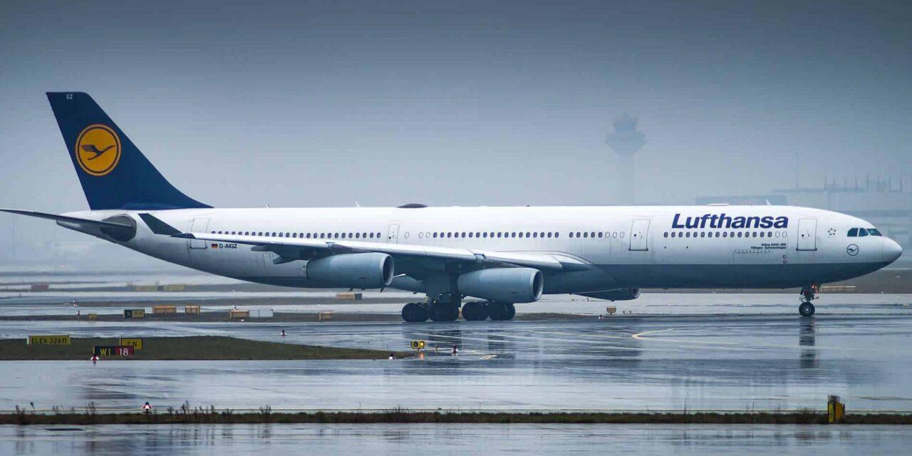 Ein Lufthansa Airbus A340-300 auf einem innerdeutschen Flug!