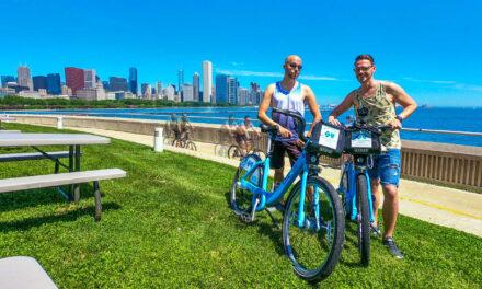 Chicago mit dem Rad, Dion von der SWISS & Pizzatorte!