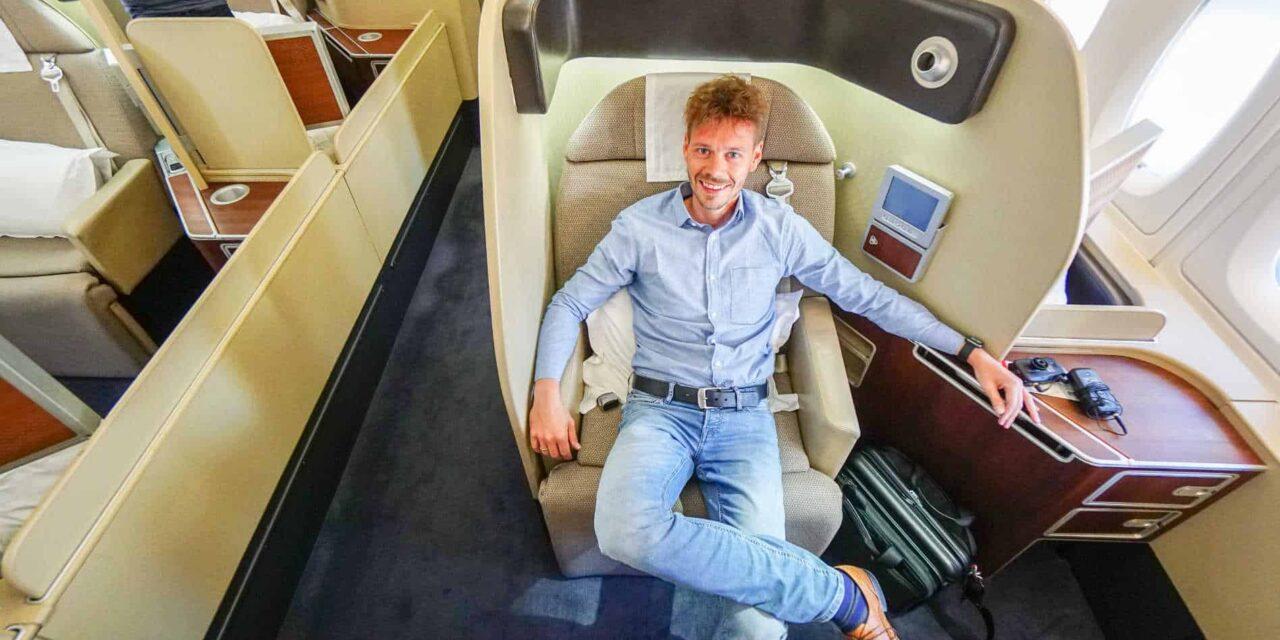 Qantas First Class A380, 12 Stunden 40 Minuten von SYD nach LAX