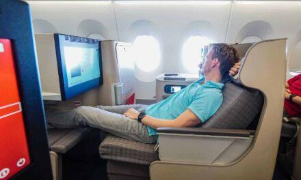 Die neue Iberia Business Class A350 von Madrid nach New York