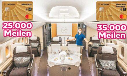 25.000/35.000 Bonusmeilen mit der Miles & More Kreditkarte Gold