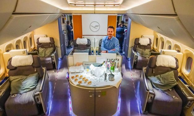 5-Sterne Lufthansa First Class 747-8 & First Class Terminal