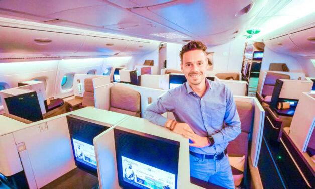 14 Stunden in der Etihad Business Class im A380 nach Sydney