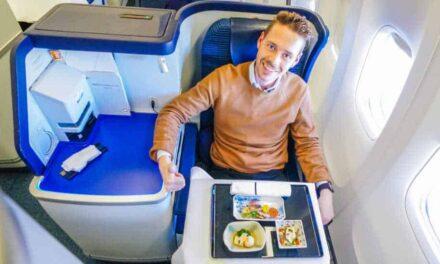 Die ANA Business Class in der 777 von Frankfurt nach Tokio