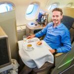 In der Asiana Business Class im A380 von Sydney nach Seoul