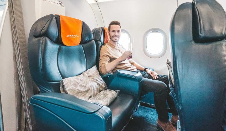 Die Aeroflot Business Class in der A320 nach Moskau