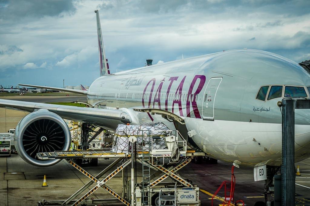 American Express Punkte einlösen: Qatar Airways Flugzeug