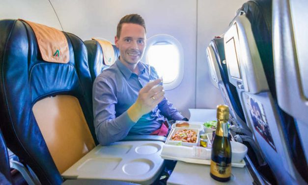 Mit der Alitalia Business Class in der A320 nach Rom