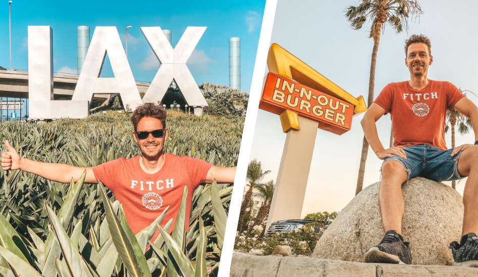 Los Angeles Airport mit In-N-Out Burger und Meet & Greet