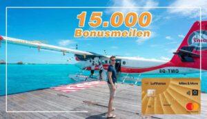 15.000 Bonusmeilen mit der Miles & More Kreditkarte Gold